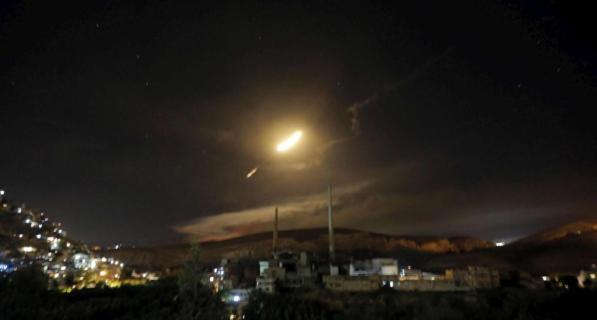 Risultati immagini per attacco israeliano in siria 9 maggio