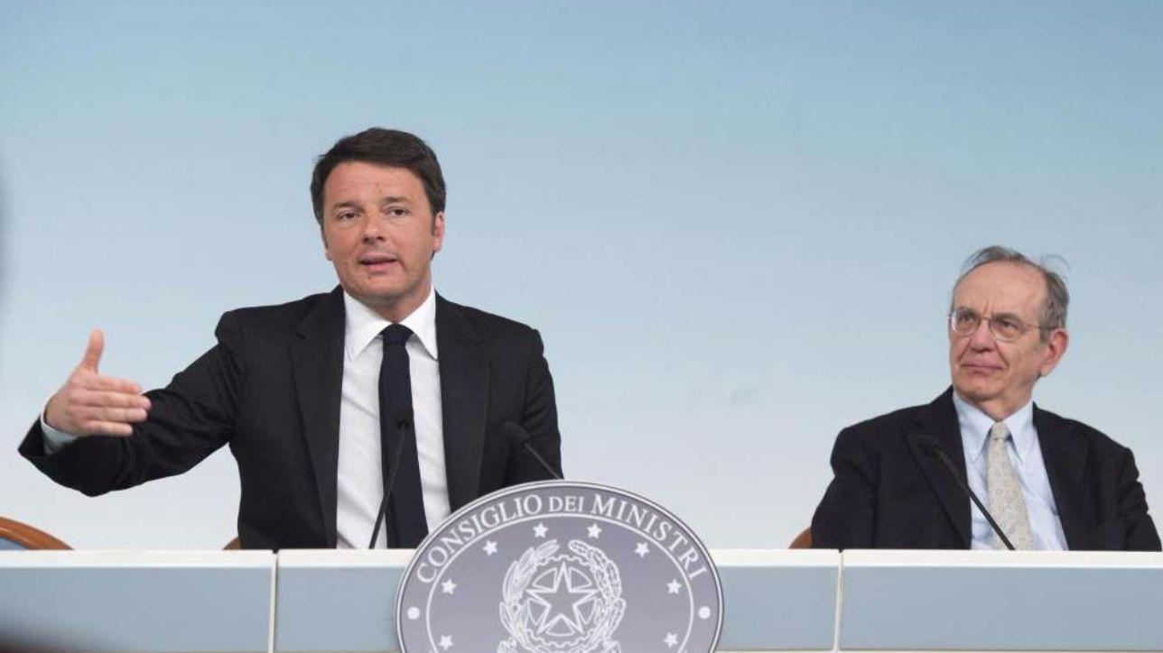 Cdm approva l'aggiornamento del Def, Renzi: nel 2017 crescita dell'1%, deficit fino al 2,4%