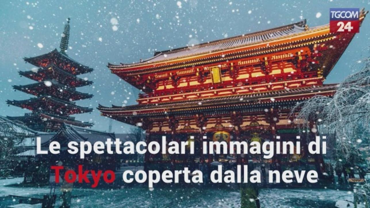 Le spettacolari immagini di tokyo coperta dalla neve tgcom24 for Disegni di coperta inclusi