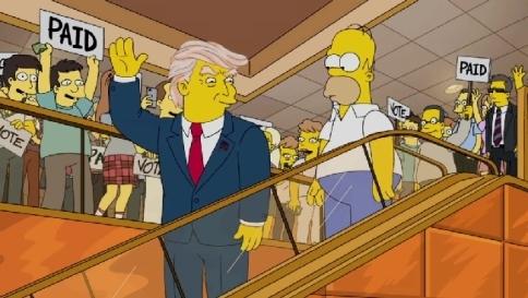 Risultati immagini per homer simpson presidente