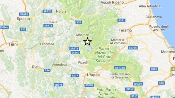 Scossa di terremoto nell'Aquilano: magnitudo 3.7, epicentro a Campotosto