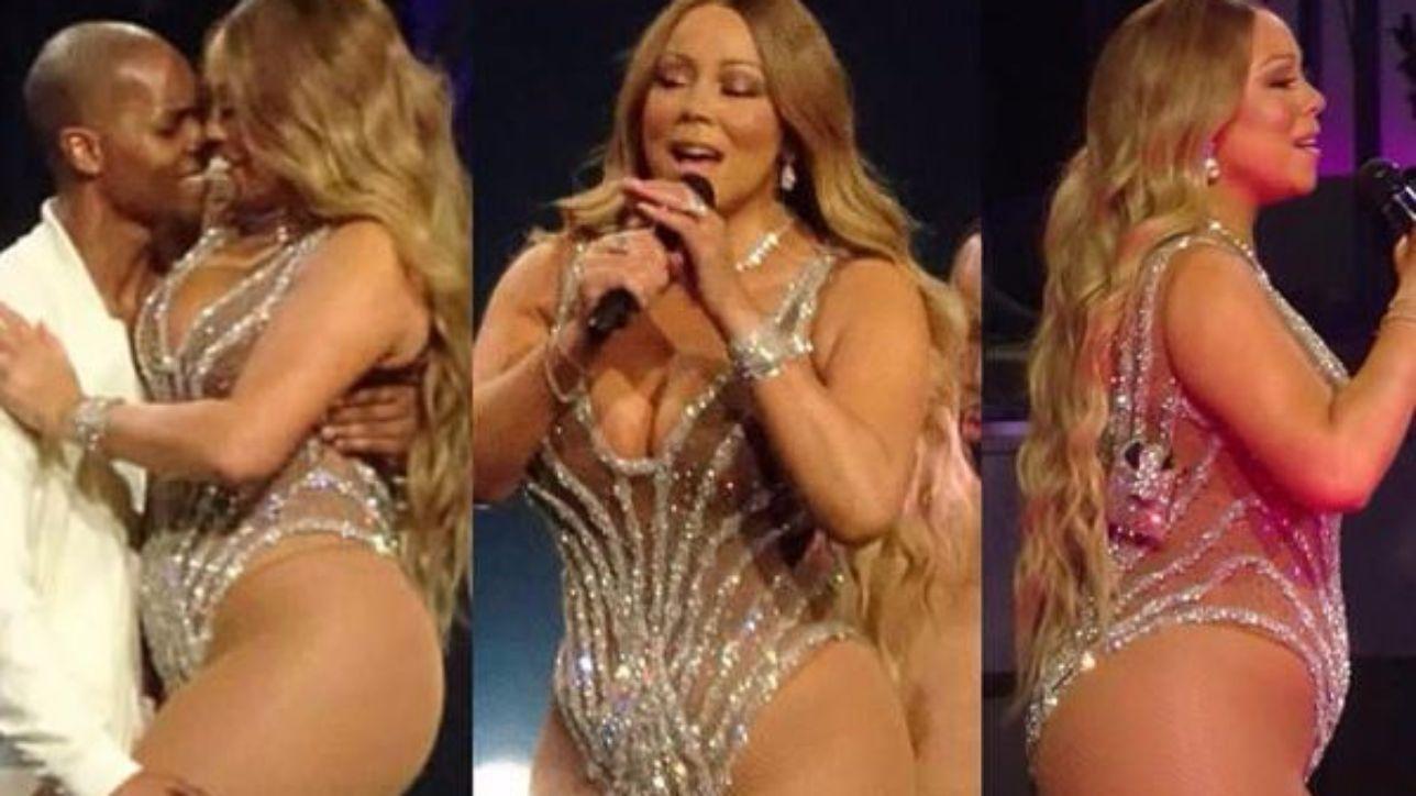 Mariah Carey mostra sul palco le sue forme curvy - Tgcom24 мэрайя кэри потолстела