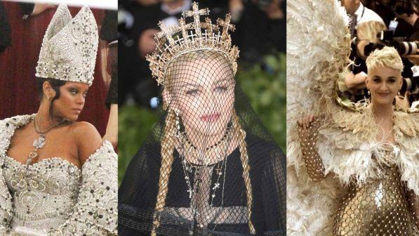 Met Gala 2018 tra sacro e profano, Rihanna è una Papessa, Katy Perry un Arcangelo