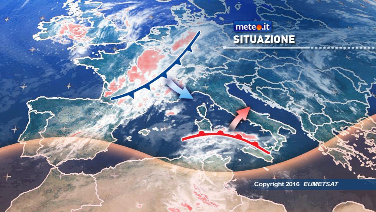 Meteo, doppia perturbazione in azione sull'Italia
