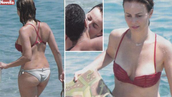 Violante Placido, vacanze a tre e bikini hot