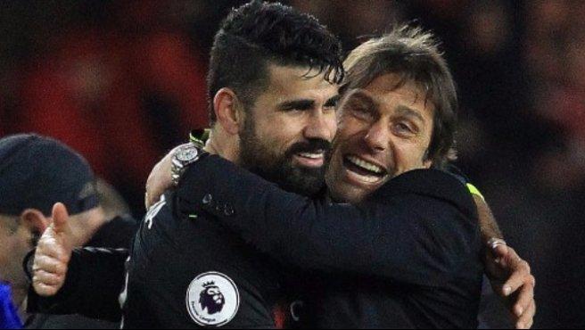 Premier: Costa gol, Chelsea primo da solo