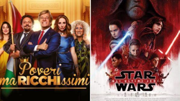 """Botteghino di Natale: De Sica e Brignano battono Star Wars, flop del \""""super cinepanettone\"""""""