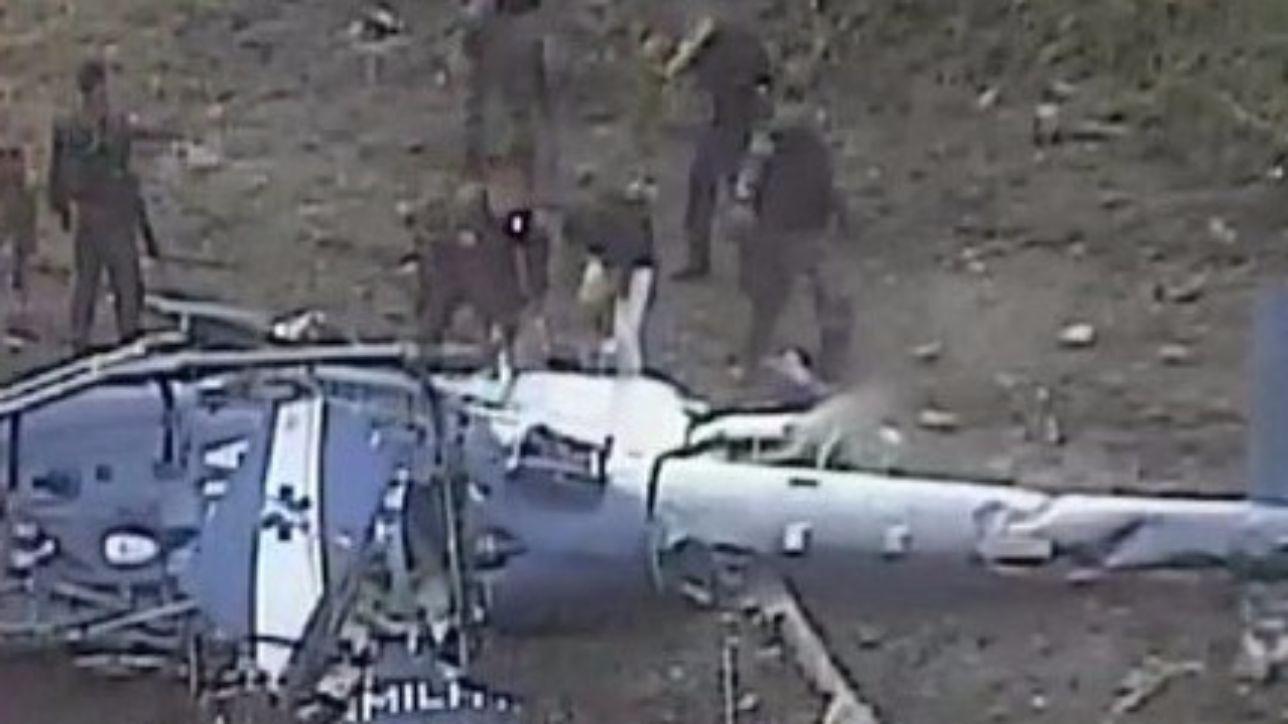 Elicottero Mediaset : Cade elicottero in messico militari morti e uno ferito