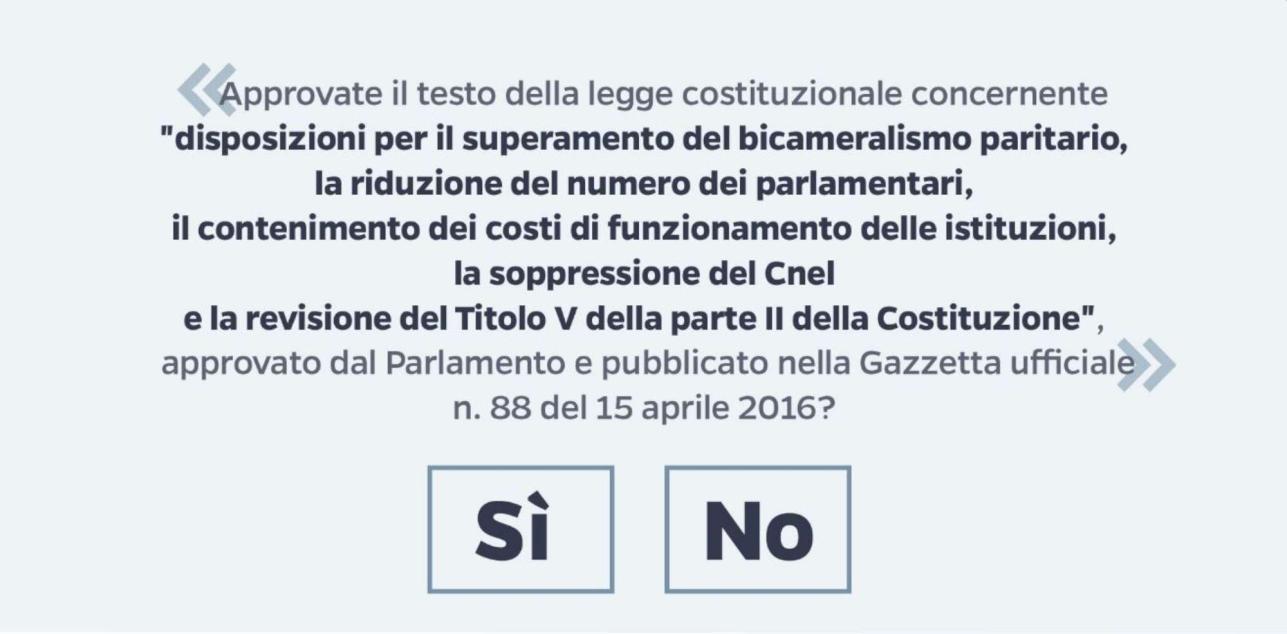 Perché si vota il 4 dicembre per il referendum costituzionale?