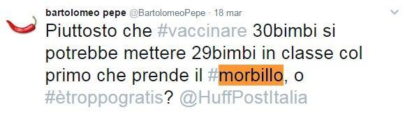 Il senatore Pepe infiamma il web con il suo no al vaccino anti morbillo