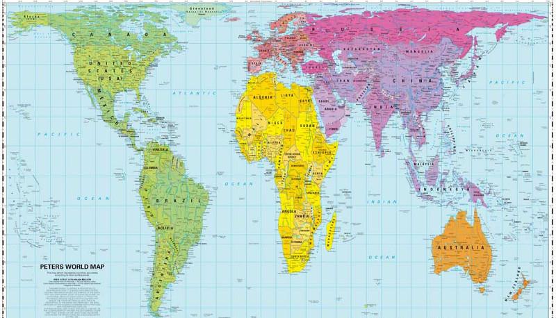 Sicuro di conoscere la geografia questa mappa ti far - Mappa del mondo contorno ks2 ...