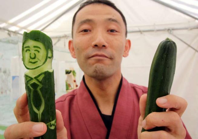 In Giappone il cetriolo diventa... premier Ecco le creazioni dello chef Okitsugu Kado