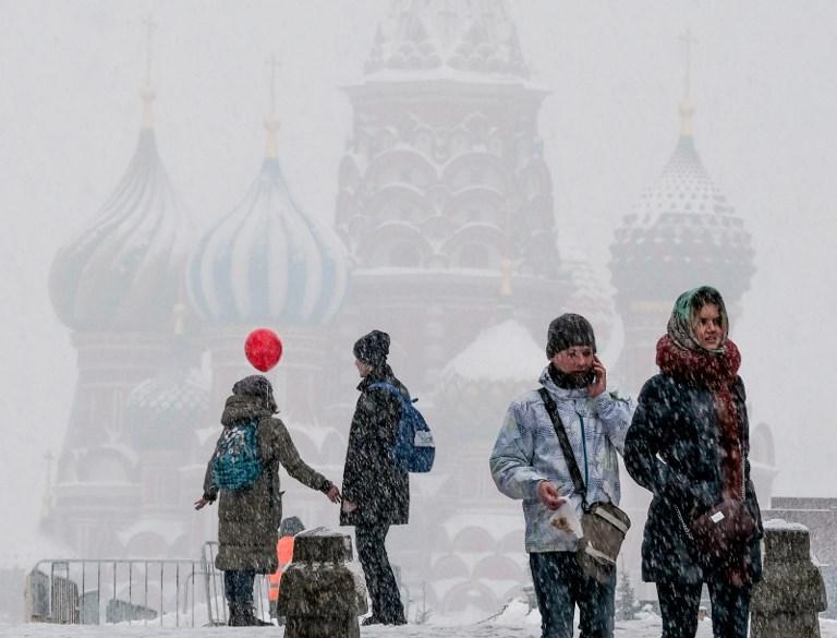 Russia, nevicata record a Mosca