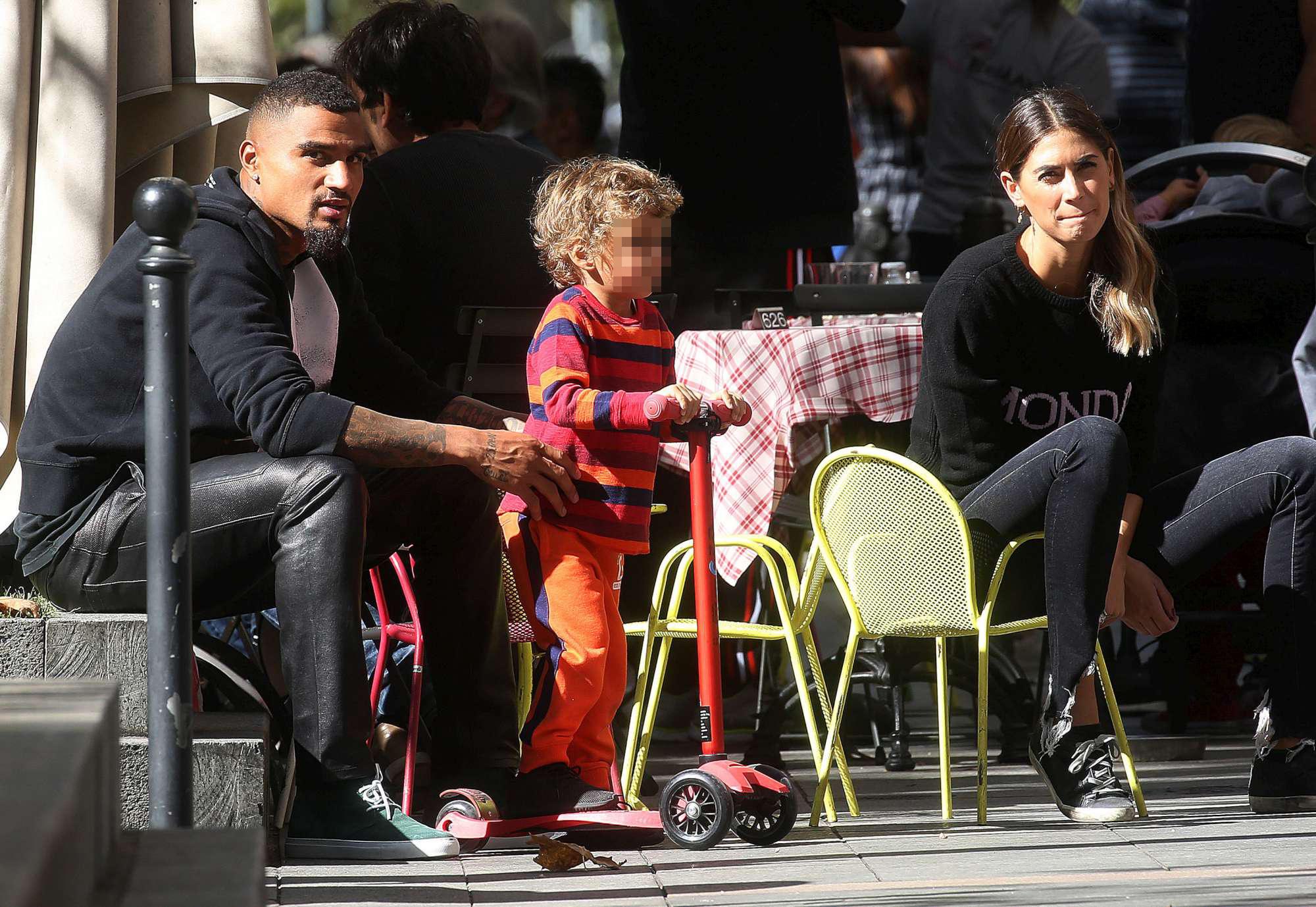 Melissa Satta, pomeriggio al parco con Boateng e Maddox