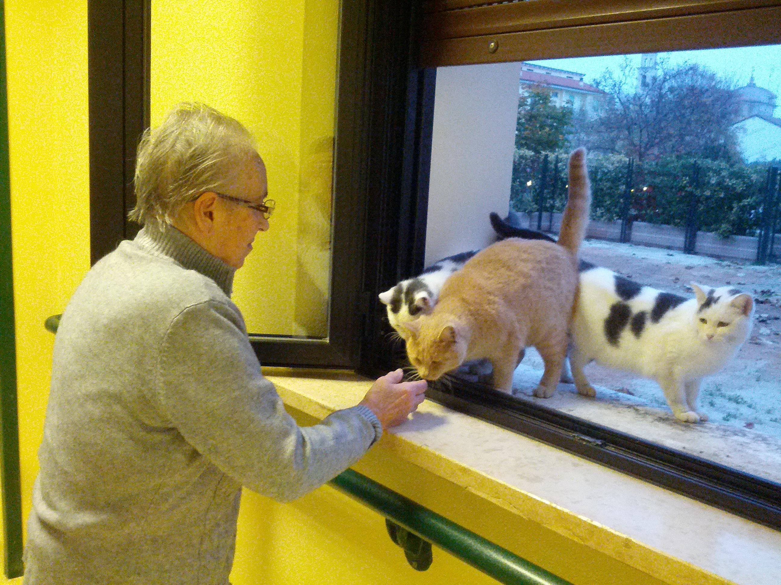 Mantova, gli animali entrano nella casa di riposo