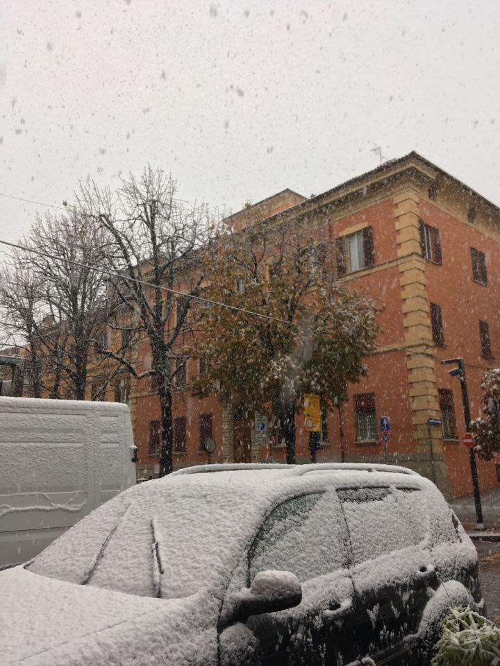 A Bologna arriva la neve: le foto dai social