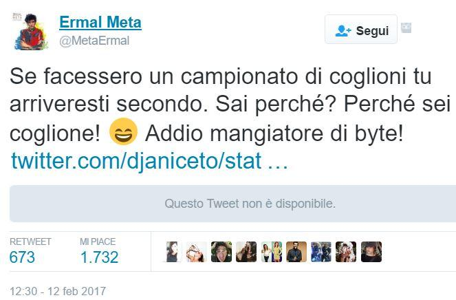 Botta e risposta su Twitter tra Ermal Meta e Dj Aniceto
