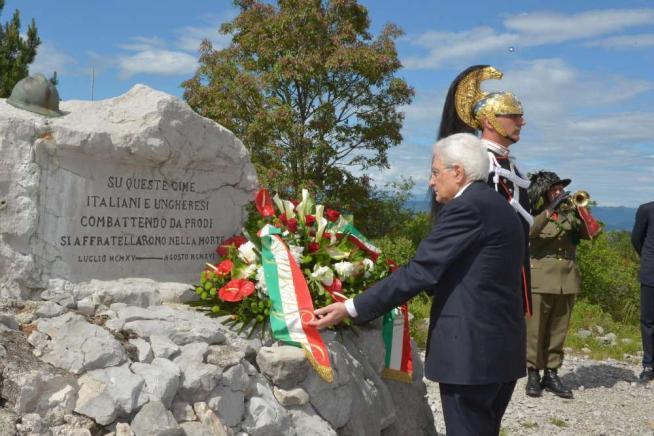 """Mattarella ricorda la Grande Guerra: """"Tragedia che poteva essere evitata"""""""