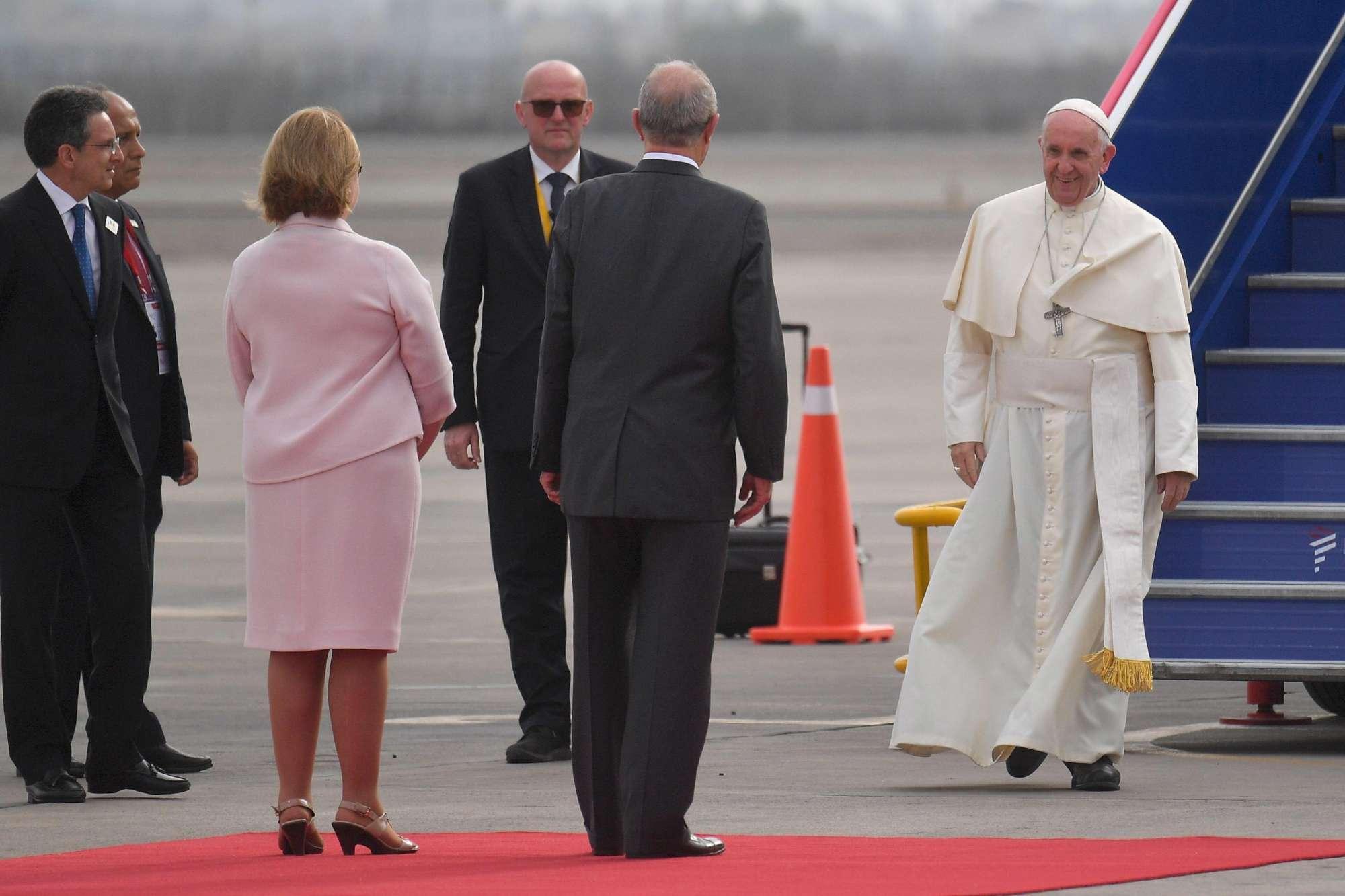 Il Papa in visita in Perù