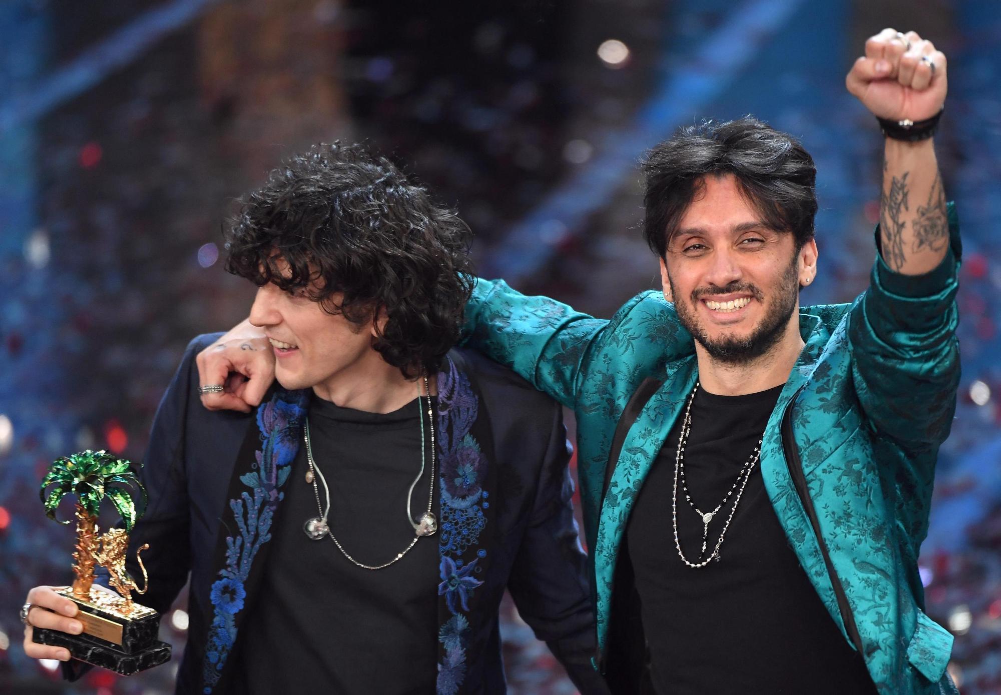 Sanremo 2018 i trionfatori Meta e Moro e gli altri premiati