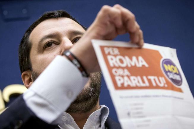 """Roma, Marchini vince il sondaggio leghista Salvini: """"Primarie, o il centrodestra perde"""""""