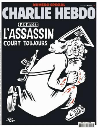 """Charlie Hebdo, copertina sulla strage: """"Un anno dopo l'assassino è ancora in libertà"""""""