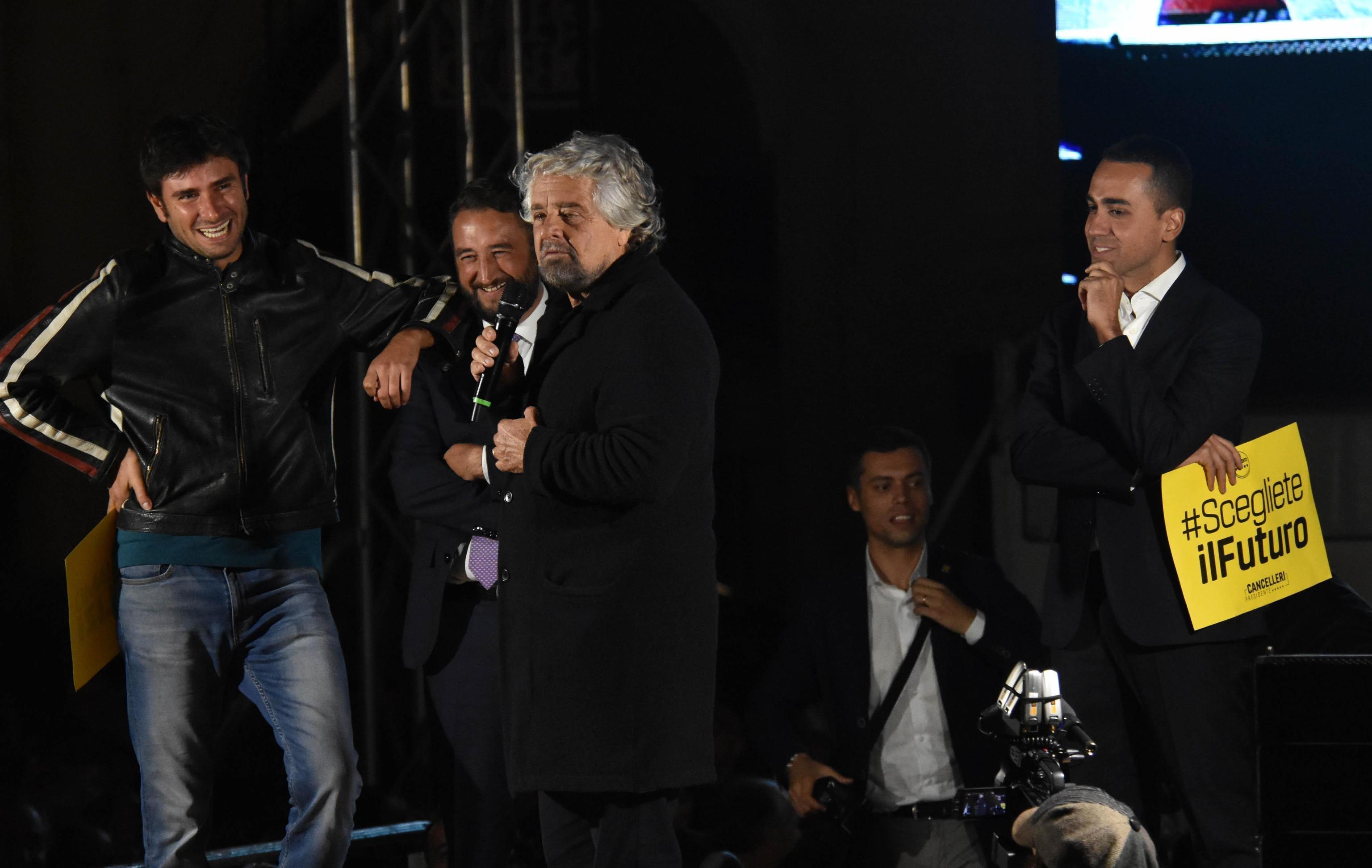 M5s, il comizio per Cancelleri a Catania: presente anche Grillo