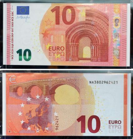 Ecco la nuova banconota da 10 euro