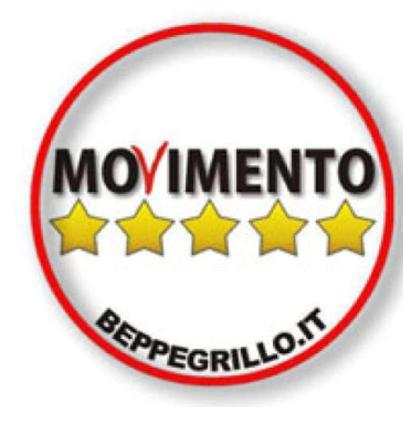 M5s da oggi si usa il nuovo simbolo via il nome di beppe for Movimento 5 stelle parlamento oggi