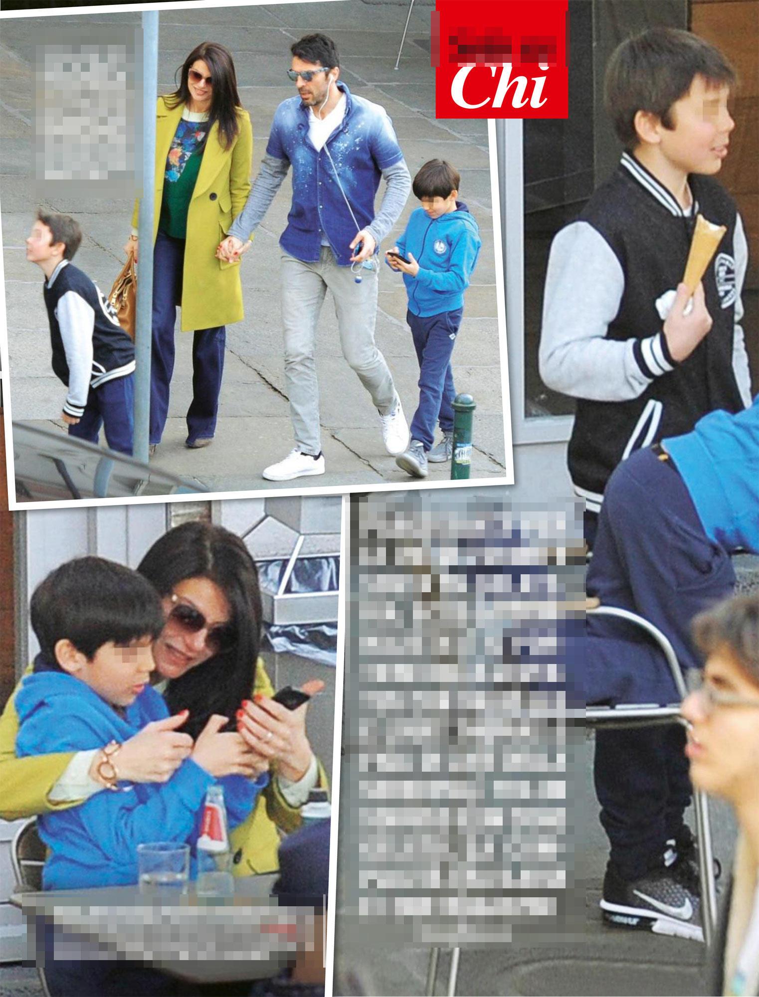 Gigi Buffon e Ilaria D Amico, prove di famiglia a Torino