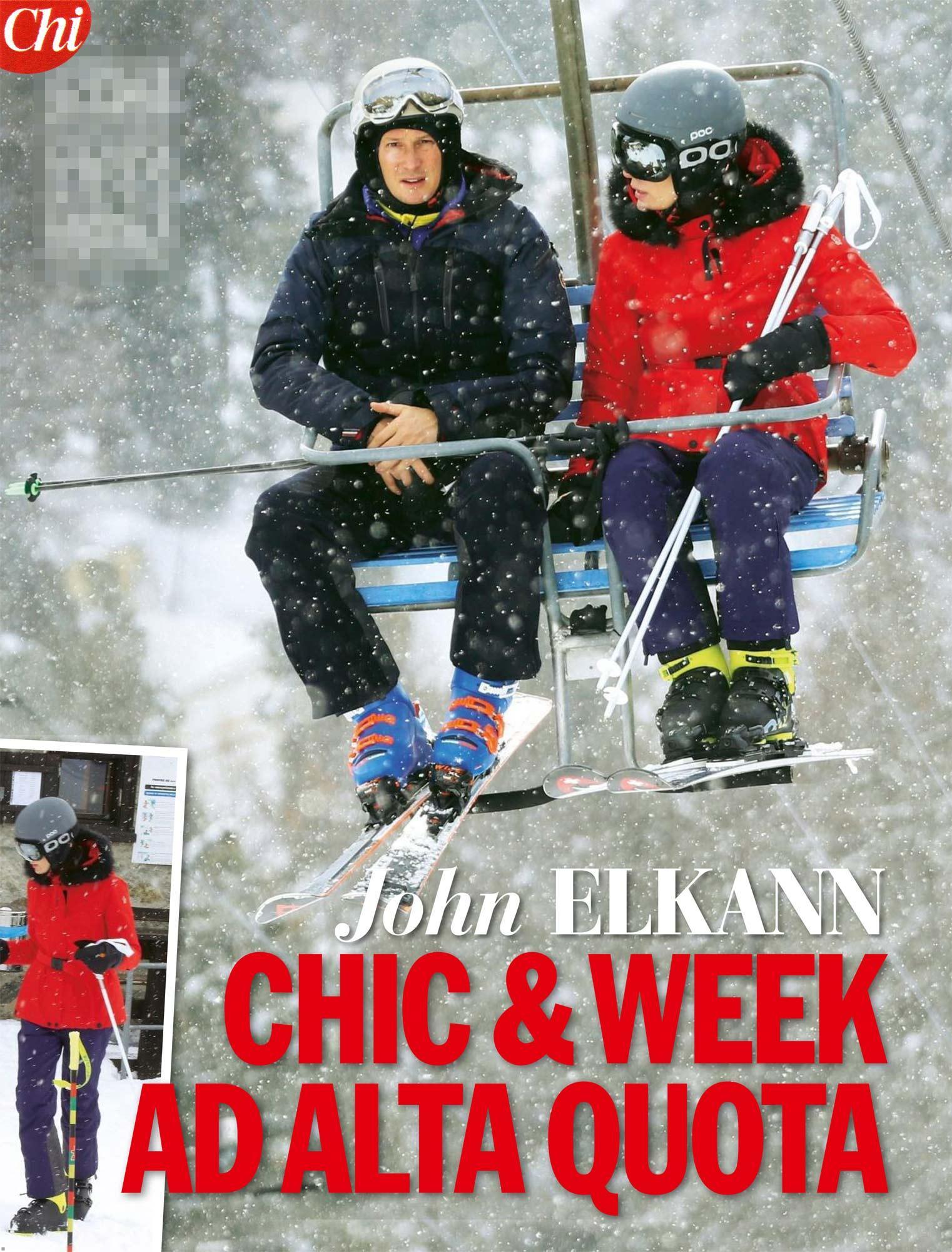 John Elkann a Saint Moritz con la famiglia