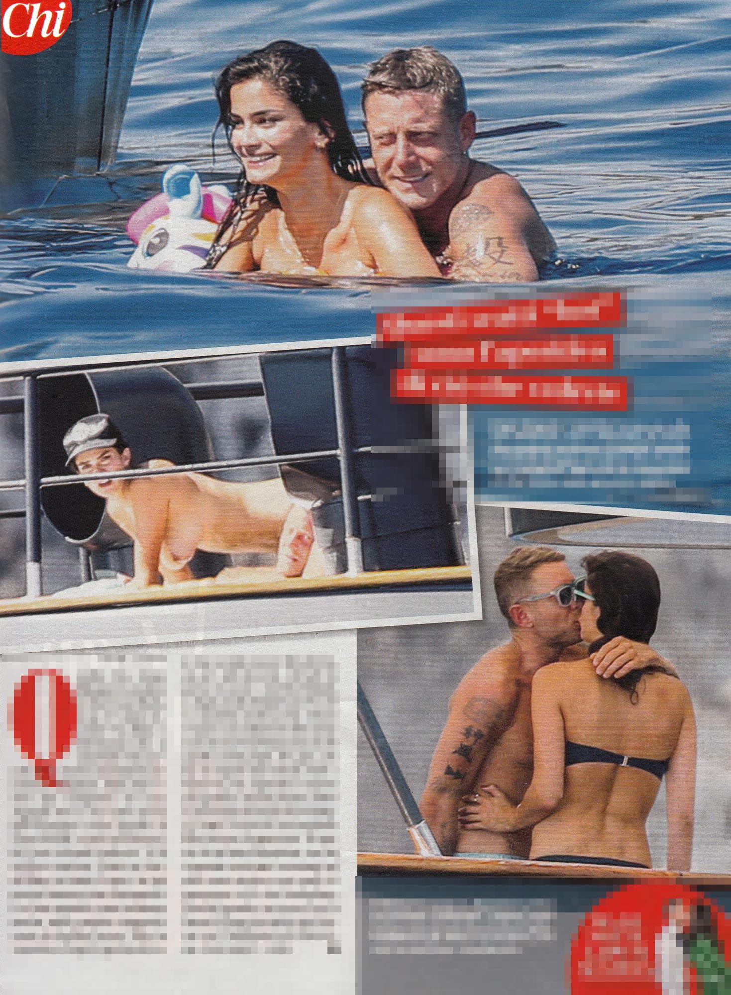 Lapo Elkann e Shermine, topless e palpatine a Capri