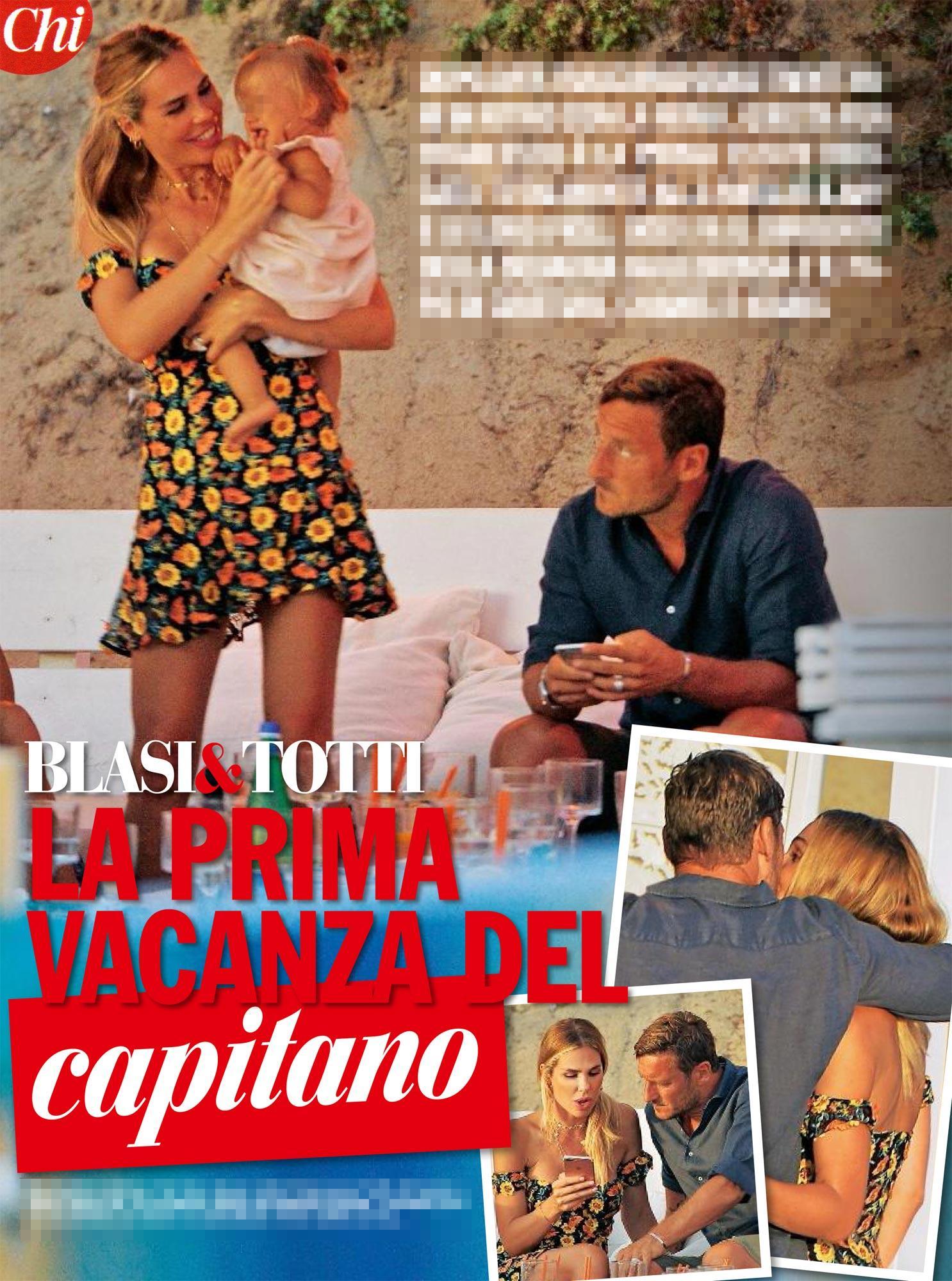 Ilary Blasi e Francesco Totti si scatenano in spiaggia a Sabaudia