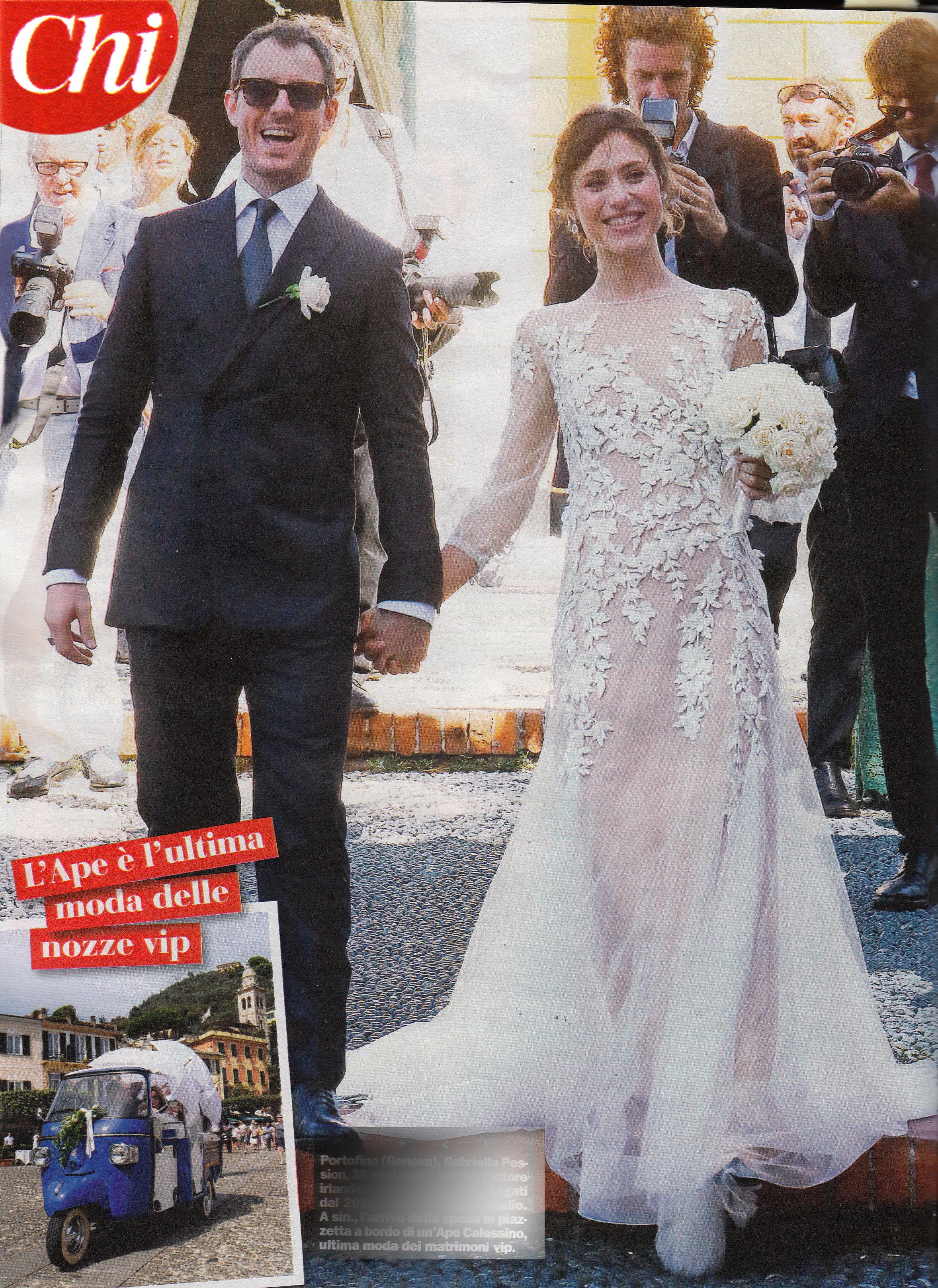 Favoloso Gabriella Pession, matrimonio a sorpresa a Portofino - Tgcom24 OM62