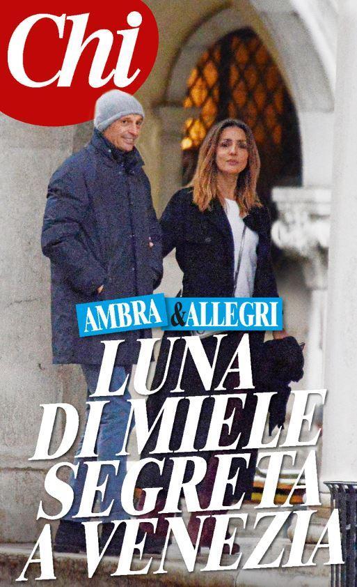 Ambra Angiolini e Massimiliano Allegri, romantici a Venezia