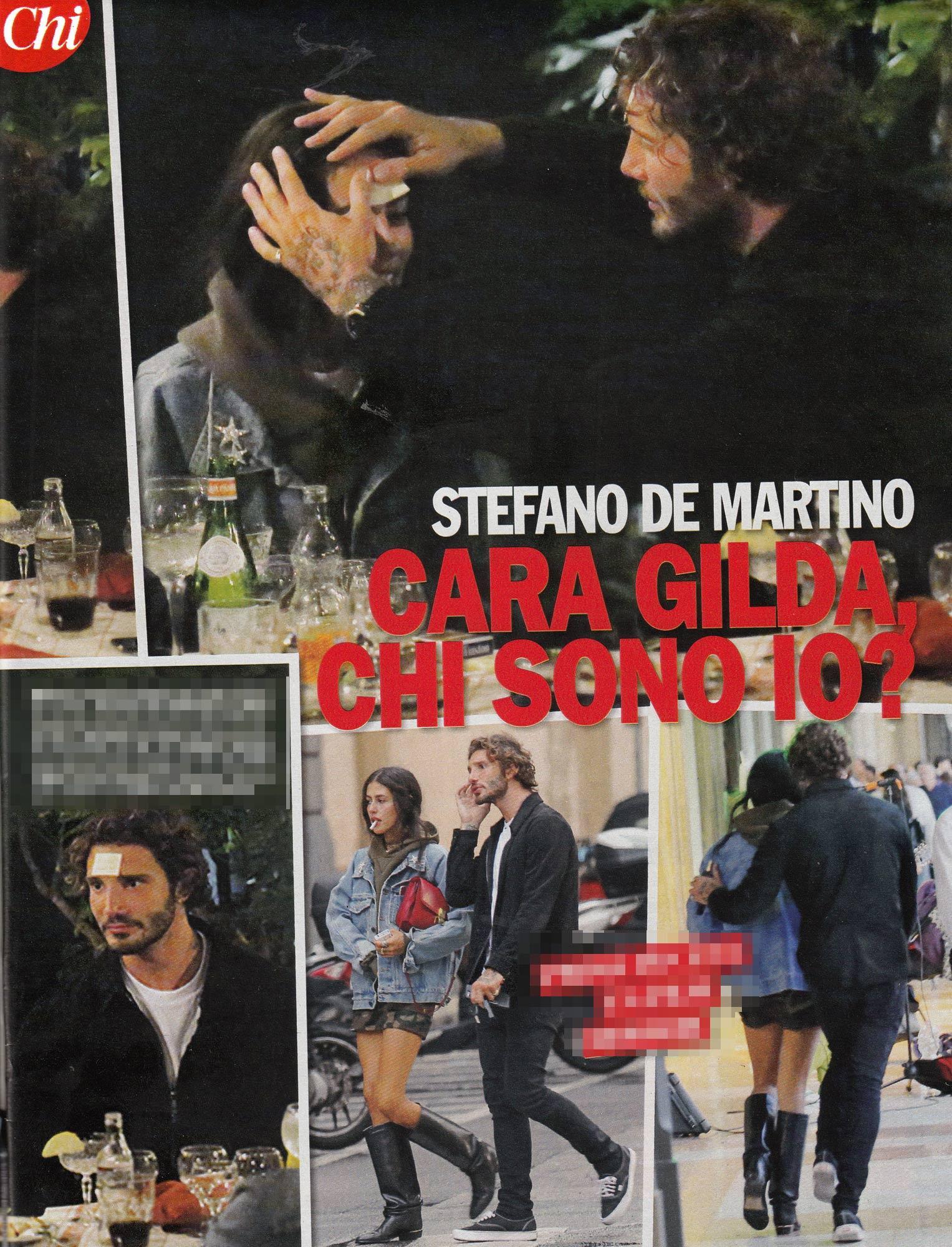 Stefano De Martino, cena e cinema con Gilda