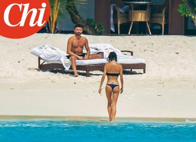 Max Biaggi e Bianca Atzei, luna di miele alle Maldive