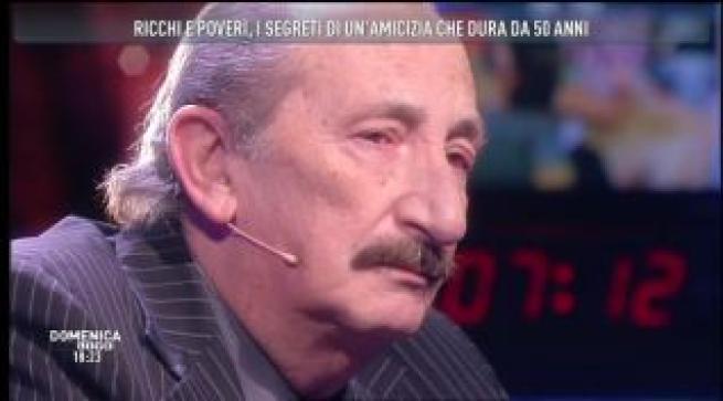 """""""Domenica Live: il dolore di Franco Gatti, il 'baffo' dei Ricchi e Poveri"""