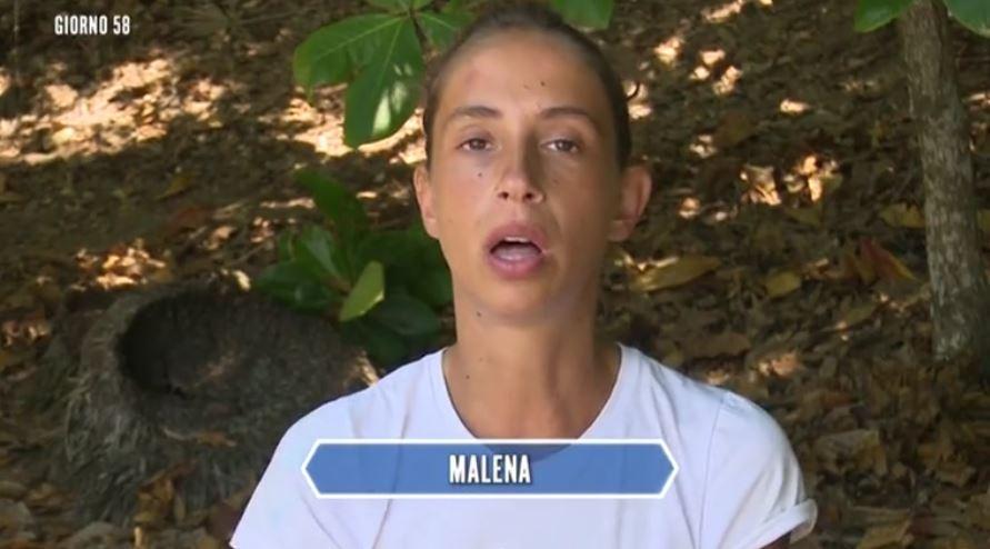 Isola dei famosi, Malena si confessa tra le lacrime