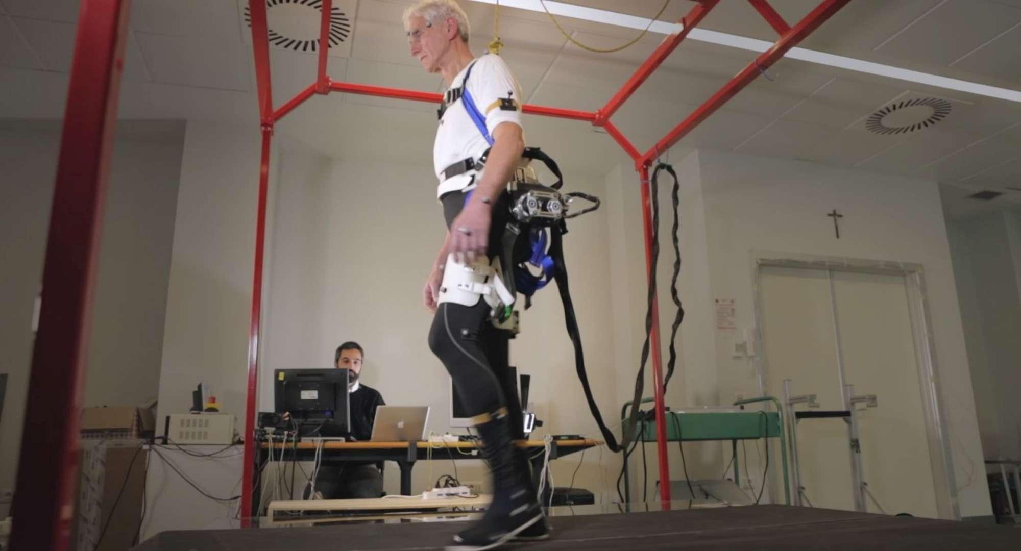 Da una ricerca italo-svizzera il primo robot indossabile che previene le cadute