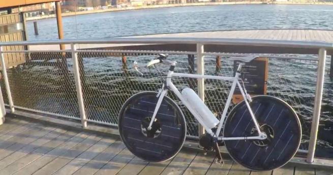 """Dalla Danimarca arriva """"Solar Bike"""", la bici elettrica con i pannelli solari sui raggi"""