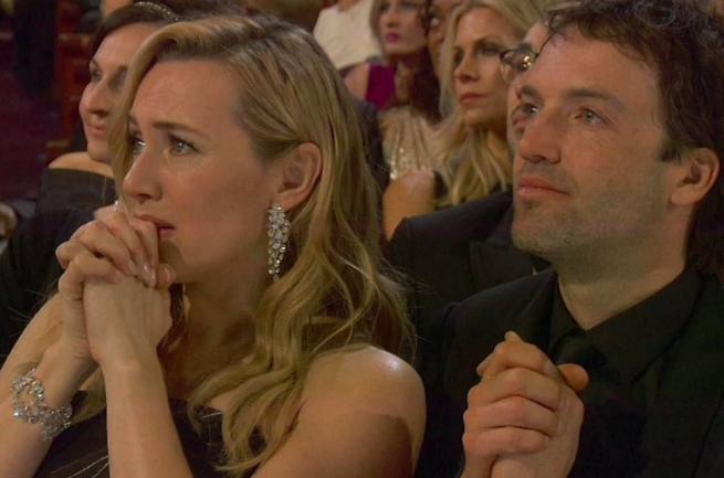 Oscar 2016, l emozione di Kate Winslet per il premio al  suo  Leonardo DiCaprio