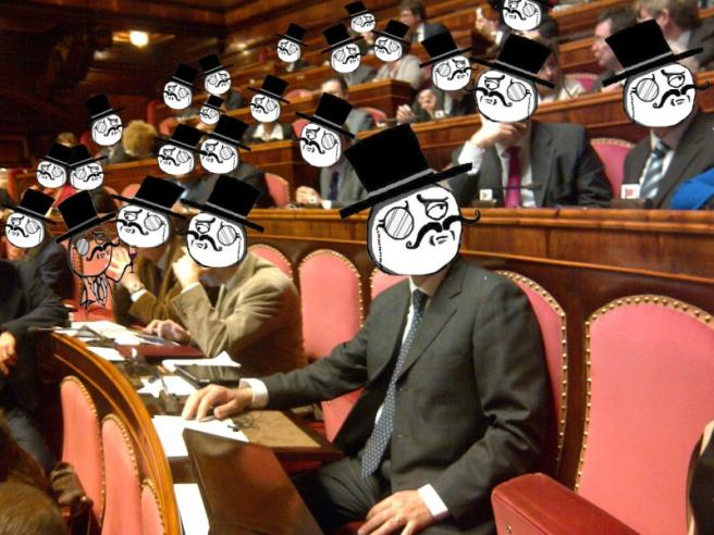 #SenatoDown, cyberattacco Anonymous per il Ddl Cirinnà:  Basta giochi infantili