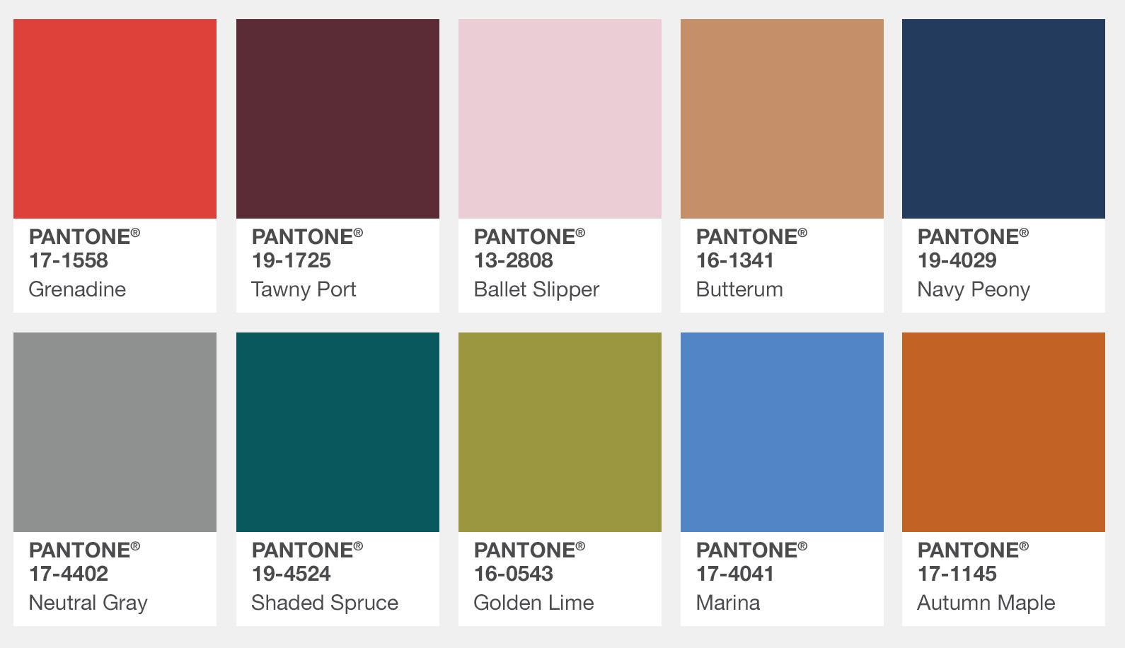 I colori trendy per il prossimo autunno