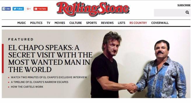 Messico, El Chapo fu intervistato da Sean Penn durante il periodo della latitanza