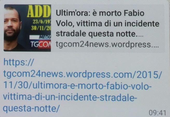 Fabio Volo, la bufala della morte corre in Rete sfruttando il nome di Tgcom24