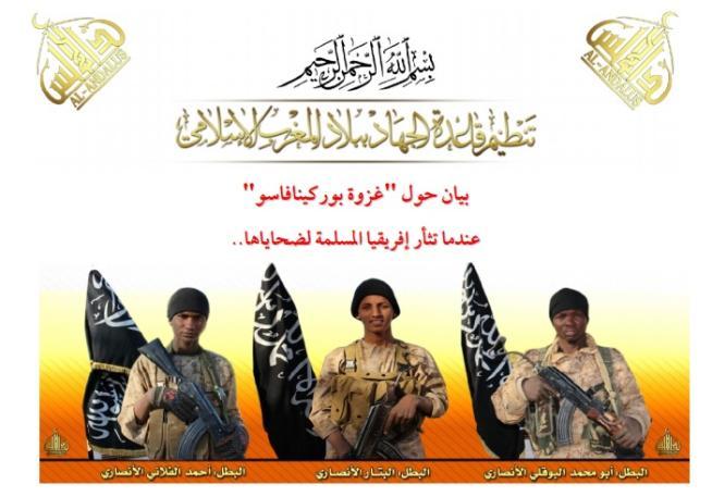 Attacco in Burkina Faso, Al Qaeda pubblica le foto degli autori della strage