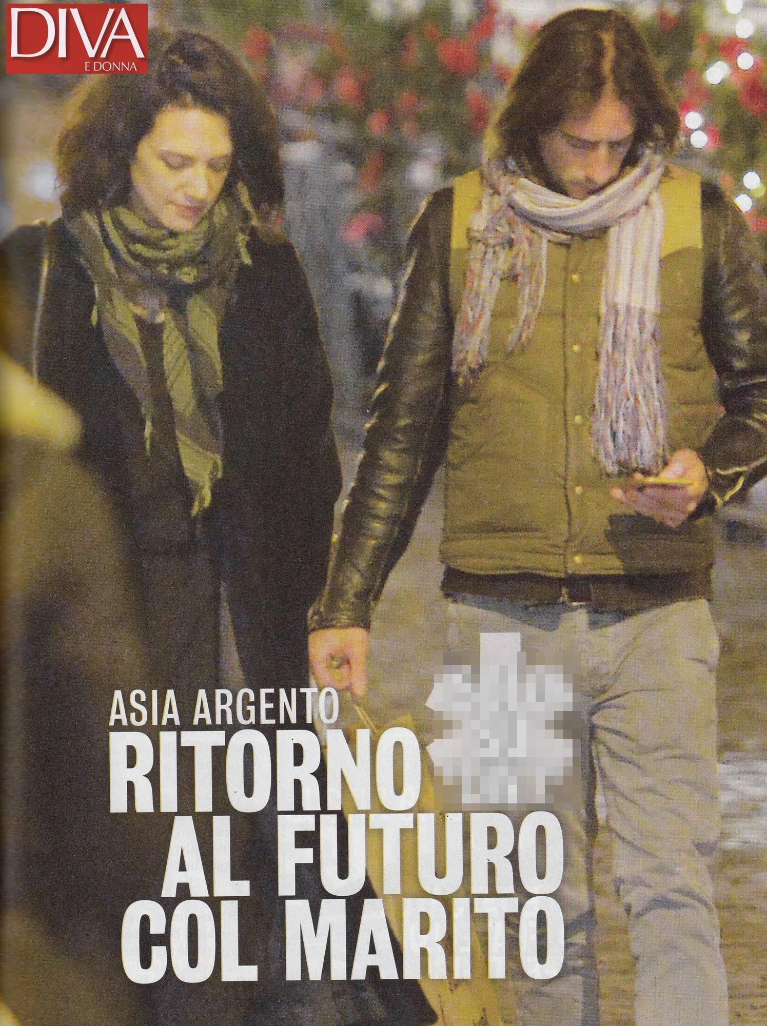 Asia Argento, è passione con l ex Michele Civetta
