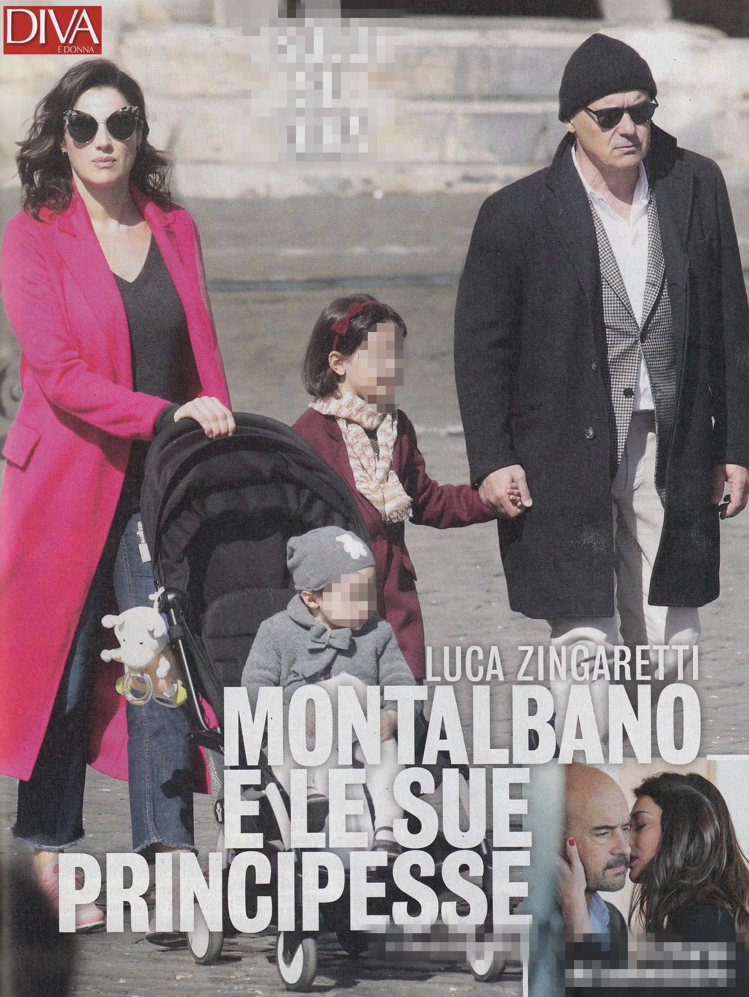 Luca Zingaretti e Luisa Ranieri, che happy family!
