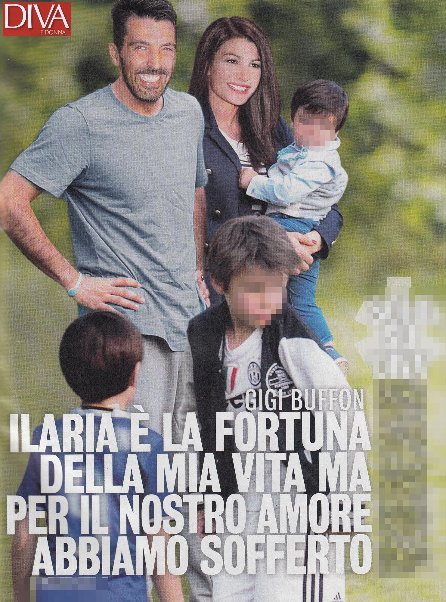 Dopo la sofferenza, Buffon si gode la sua Ilaria